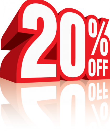 20 percent off discount numerology